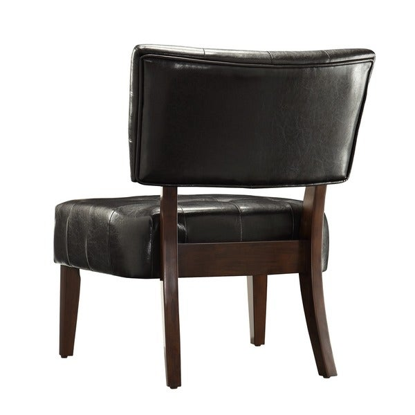 charlotte faux leather armless accent chair by inspire q classic free shipping today