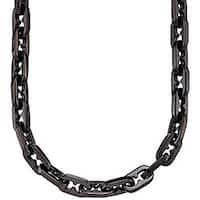 Black Stainless Steel Razor-link Necklace