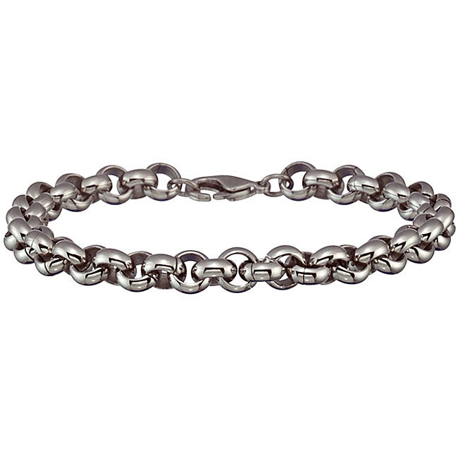 Stainless Steel Men X27 S Round Link Bracelet