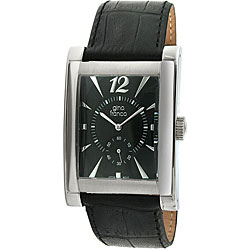 Gino Franco Men's Leather Strap Watch