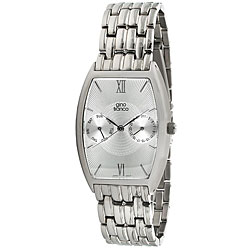 Gino Franco Men's Stainless Steel Multifunction Bracelet Watch