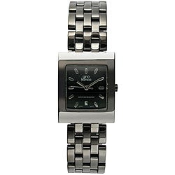Gino Franco Men's Black Dial Bracelet Watch