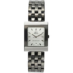 Gino Franco Men's Gunmetal Stainless Steel Watch