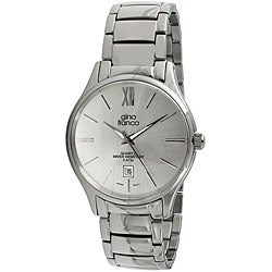 Gino Franco Men's Round Stainless Steel Watch