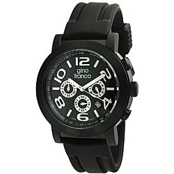 Gino Franco Men's Black Multifunction Watch