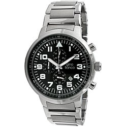 Gino Franco Men's Round Stainless Steel Chronograph Watch