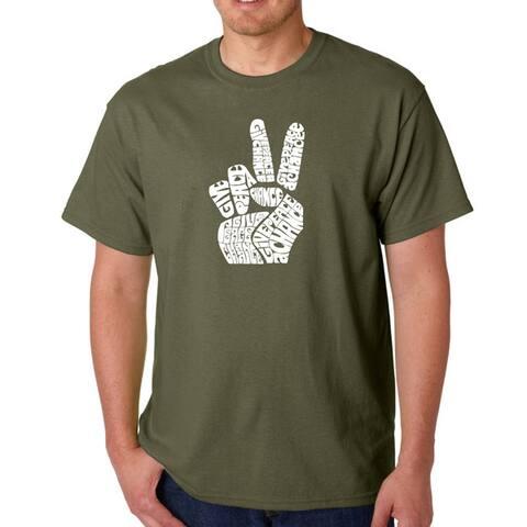 Los Angeles Pop Art Men's Peace Fingers T-shirt