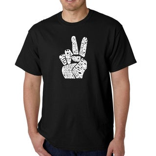 Los Angeles Pop Art Men's Peace Fingers T-shirt (Option: 3x)