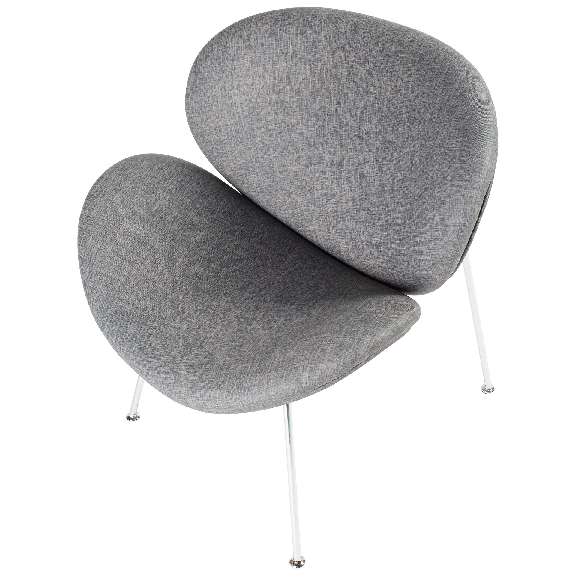 MIX Spyder Lounge Chair (Grey) (Chrome)