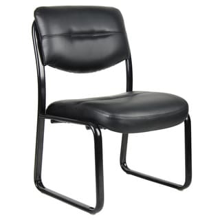Boss Black LeatherPlus Bonded Leather Guest Chair