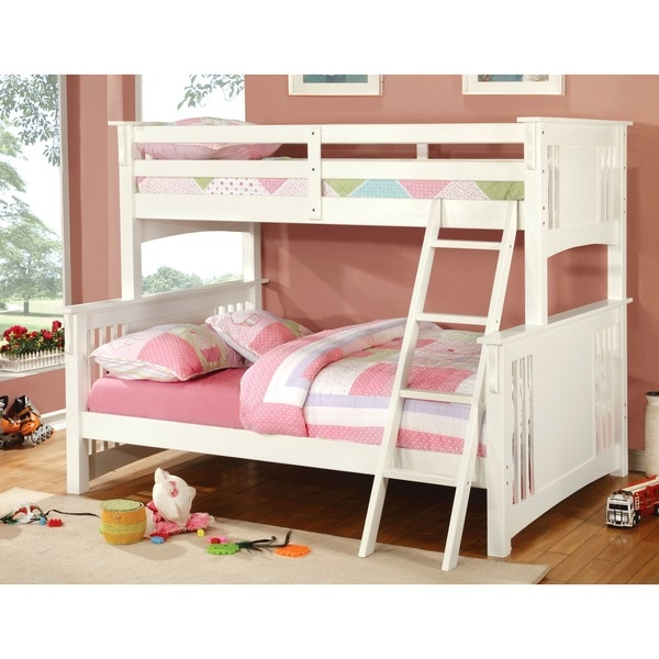 Shop Furniture Of America Ashton Youth Twin Full Size Bunk Bed Free Shipping Today