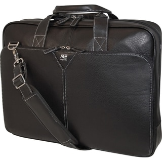 "Mobile Edge 16"" Deluxe Leather Briefcase"