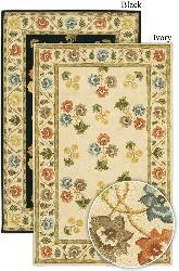 Artist's Loom Hand-tufted Transitional Floral Wool Rug (2'6x7'6) - Thumbnail 1
