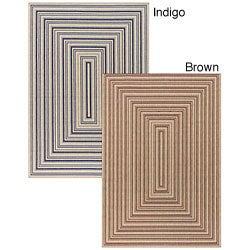Artist's Loom Indoor/Outdoor Contemporary Geometric Rug (3'9 x 5'9)