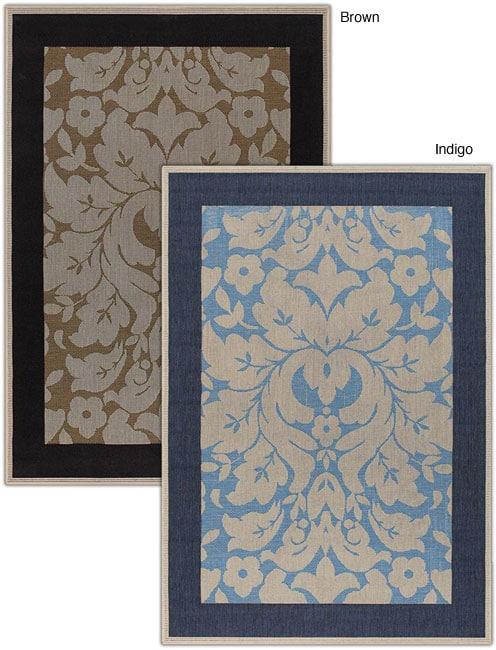 Artist's Loom Indoor/Outdoor Transitional Floral Rug (3'9 x 5'9) - 3'9 x 5'9
