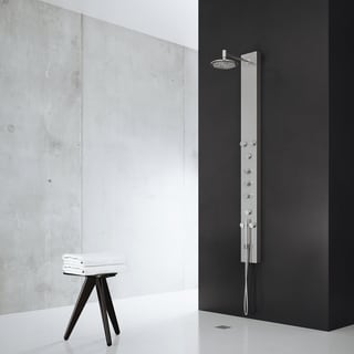 VIGO Dilana Shower Panel System with Round Rain Shower Head