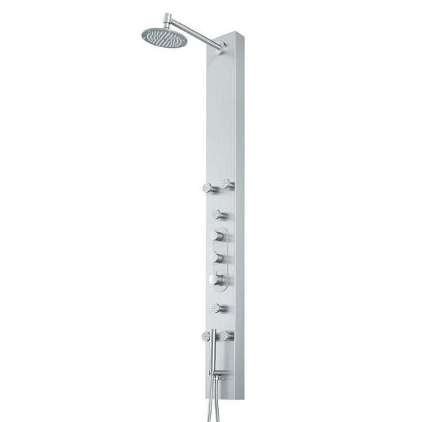 Good VIGO Dilana Shower Panel System With Round Rain Shower Head   Free Shipping  Today   Overstock.com   12282255