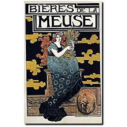 Marc Auguste Bastard 'Bieres de la Meuse' Canvas Art