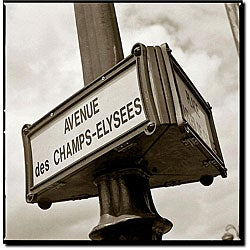 Preston 'Avenue des Champs Elysees' Gallery-wrapped Canvas Art