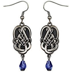 Pewter Celtic Teardrop Earrings
