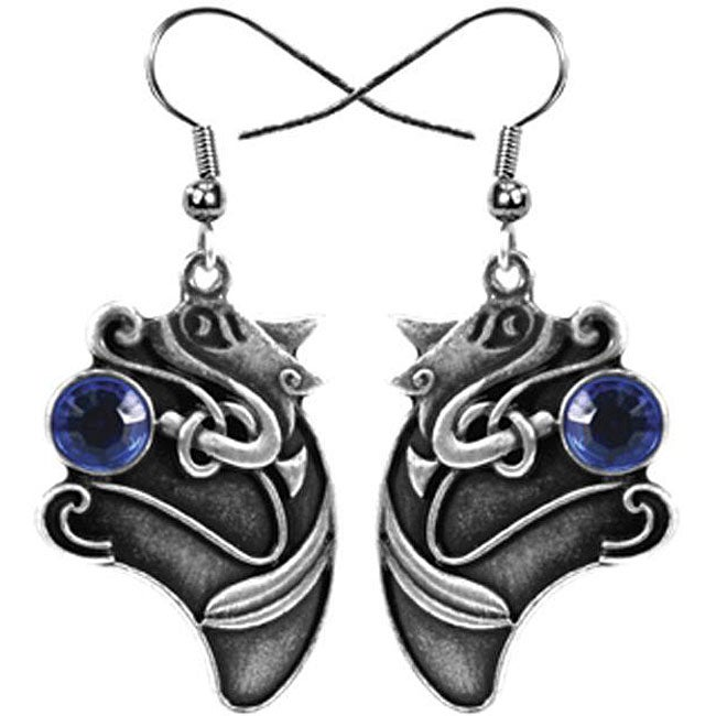 Pewter Celtic Animal Earrings