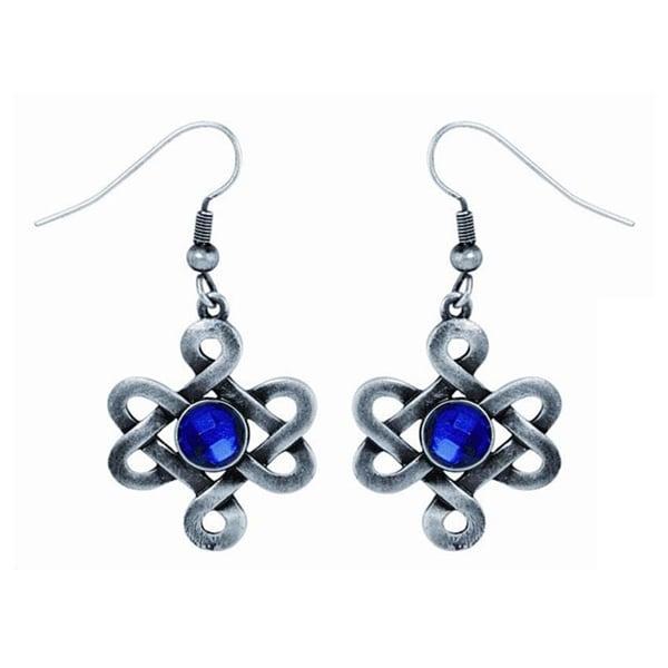 Pewter Celtic Love Knot Earrings