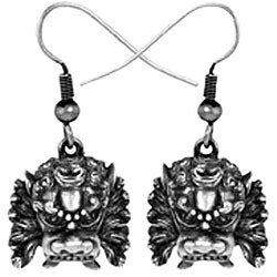 Pewter 'Foo Dog' Earrings