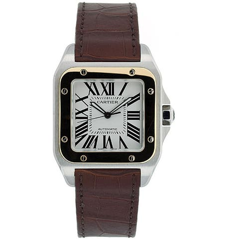 Cartier Men's Santos 18k Gold and Steel Automatic Watch