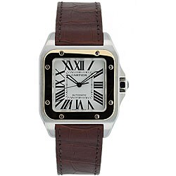 Thumbnail 1, Cartier Men's Santos 18k Gold and Steel Automatic Watch.
