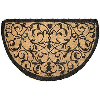 Shop Half Round Coir Iron Design Extra Thick Door Mat 1 6