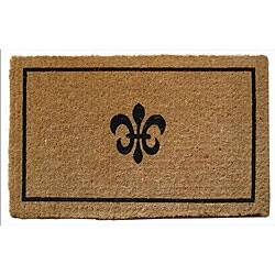 Black Coir Fleur de Lis 18x30 Extra-thick Door Mat|https://ak1.ostkcdn.com/images/products/4306032/Black-Coir-Fleur-de-Lis-18x30-Extra-thick-Door-Mat-P12280534.jpg?impolicy=medium