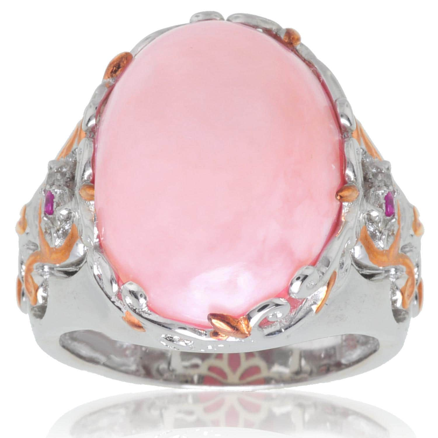 Shop Michael Valitutti Palladium/ Silver/ 18k Vermeil Pink Opal and ...