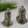 Set of 2 Paper Mache Christmas Ornaments (India)