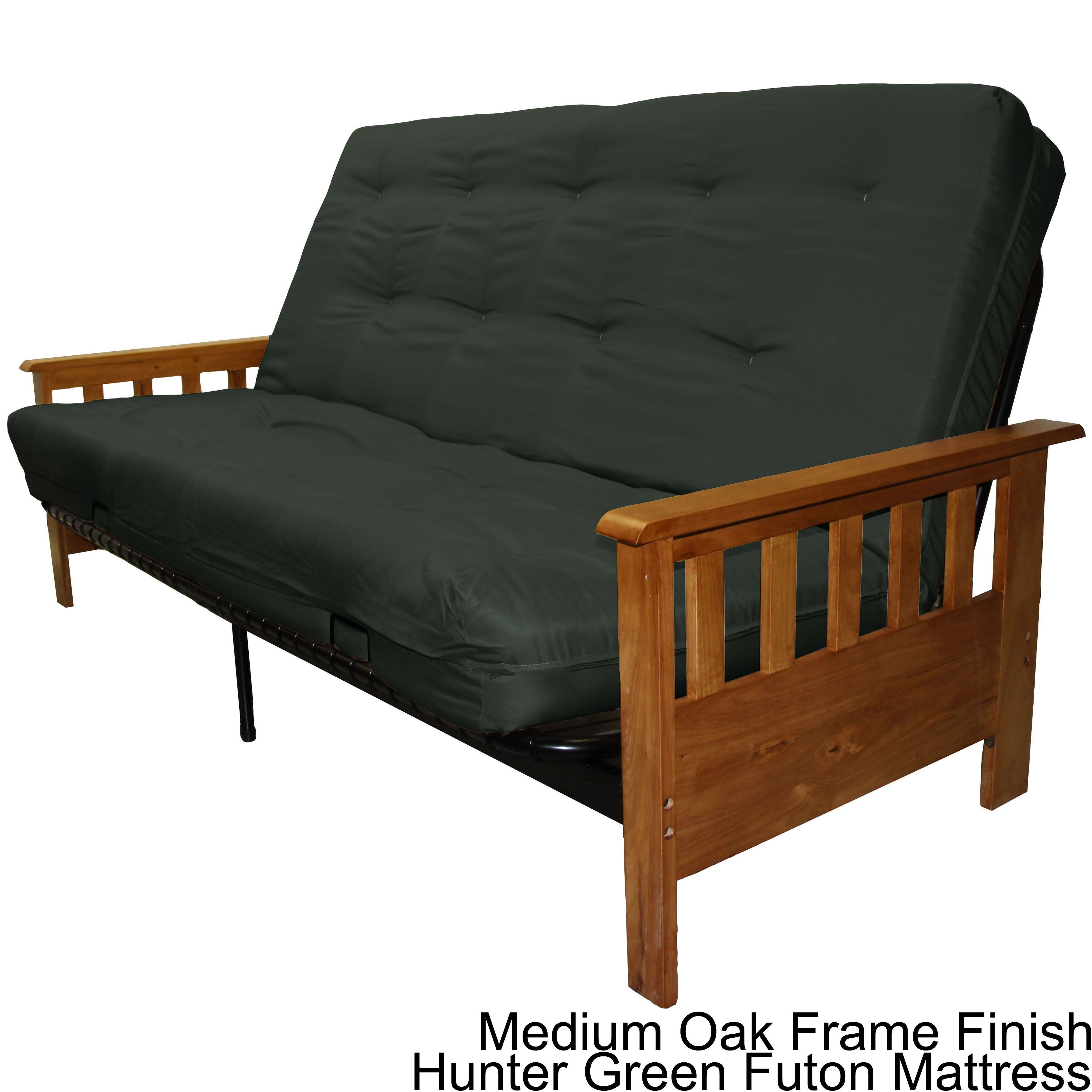 Shop Provo Mission Style Frame And Queen Size Futon Mattress Set Overstock 4306750