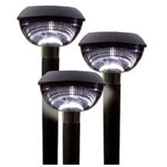 Shop Plastic Solarpowered Landscape Lights Set of 12  Free Shipping Today  Overstock.com