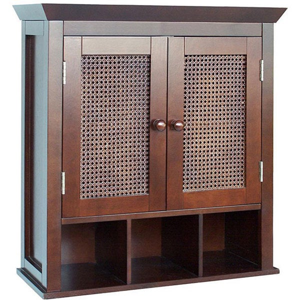 Jasper 2 Door Wall Cabinet By Elegant Home Fashions