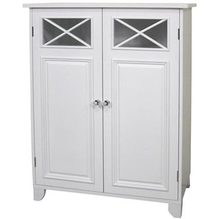 Virgo White 2-door Floor Cabinet by Elegant Home Fashions