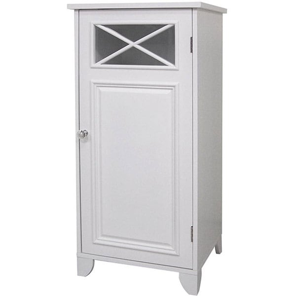 Essential Home Furnishings Virgo 1 Door White Floor Cabinet