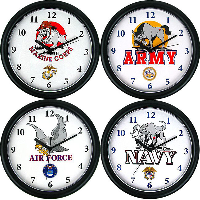 Military Armed Forces Mascot Clock Free Shipping On  : Military Armed Forces Mascot Clock L12287085 from www.overstock.com size 650 x 650 jpeg 108kB