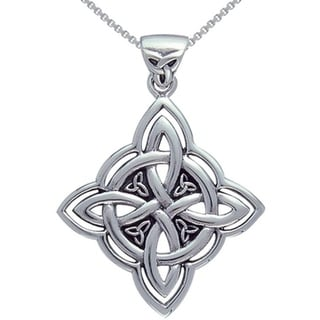 Sterling Silver Celtic Spiritual Trinity Symbol Necklace
