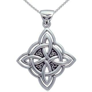 Sterling Silver Celtic Spiritual Trinity Symbol Necklace