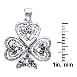 Carolina Glamour Collection Sterling Silver Shamrock Of Faith Necklace - Thumbnail 2