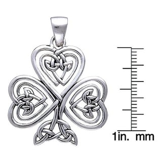 Sterling Silver Shamrock Of Faith Necklace