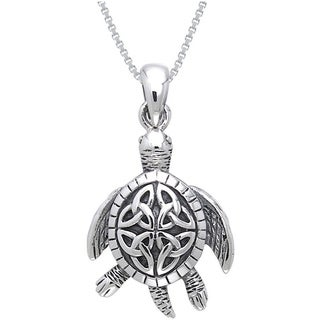 Sterling Silver Celtic Turtle Necklace
