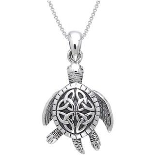 Sterling Silver Celtic Turtle Necklace