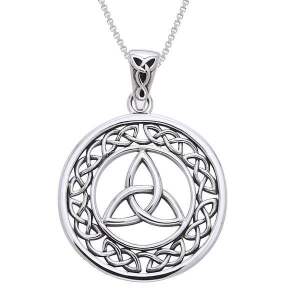 love necklace celtic knot sterling in silver colours pendant
