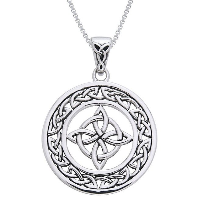 Carolina Glamour Collection Sterling Silver Celtic Good Luck Knot Necklace - Thumbnail 0