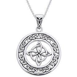 Carolina Glamour Collection Sterling Silver Celtic Good Luck Knot Necklace