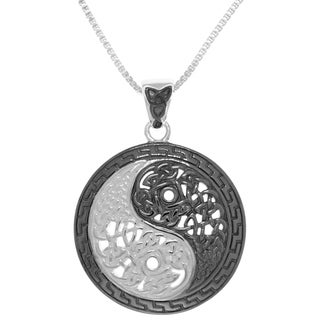 Carolina Glamour Collection Sterling Silver Yin-yang Necklace