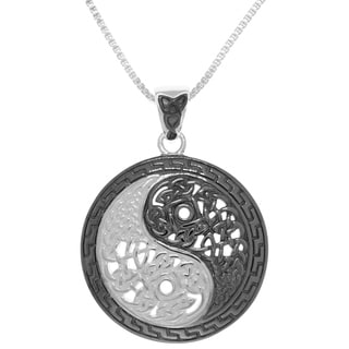 Sterling Silver Yin-yang Necklace